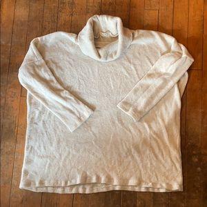 Love In Cream Cowl Neck Sweater (M)
